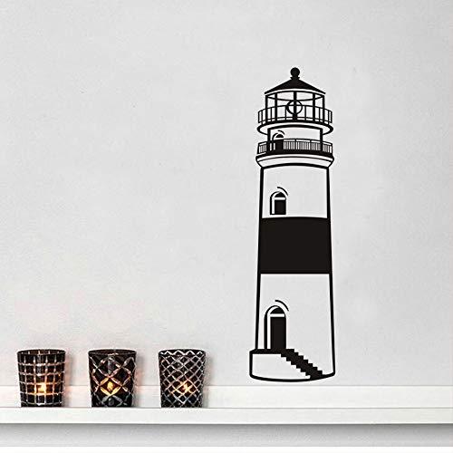 jiushizq Nuovo Arrivo Silhouette di Beach Light Adesivo Sea Scenery Wall Sticker Rimovibile Vinyl Sticker Camera da Letto Home Deocr Murale Bianco 28x100 cm