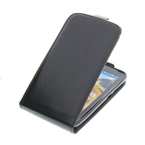 foto-kontor Tasche für Archos 45 Neon Smartphone Flipstyle Schutz Hülle Schwarz