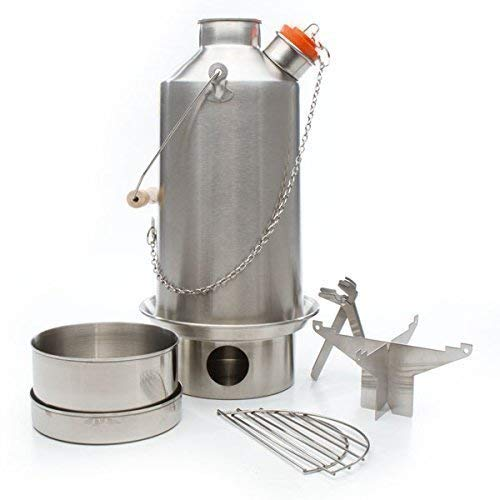 "Edelstahl ""Base Camp"" Kelly Kettle  (1.5l) - Outdoor Kochtopf Set"