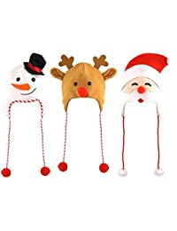 3 Assorted Adult Christmas Hats - - One Pack of Each Supplied …