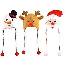 3 Assortiti Adulto Natale Cappelli Un Pacco di Ogni Fornito c669e361f001