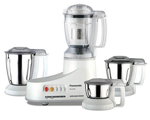 Panasonic AC MX-AC400 1000-Watt Mixer Grinder with 4 Jars (White)