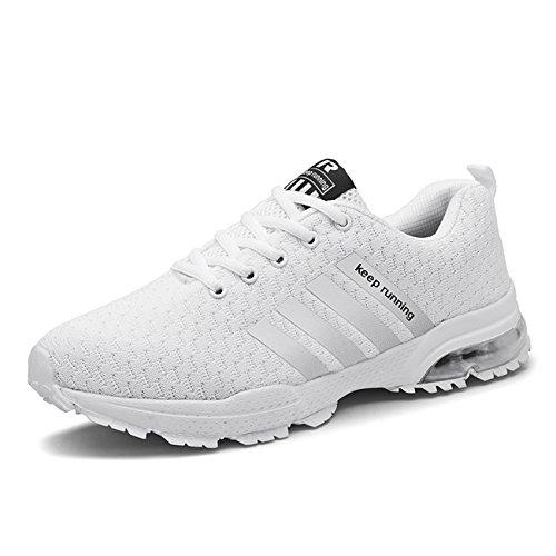 Super Lee Herren Damen Sportschuhe Laufschuhe Leicht Bequem Outdoor Turnschuhe Luftpolster Schuhe in Größe 37-46 (Bewegung Walking-schuhe)