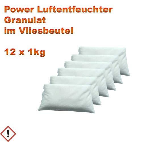 12 x 1 kg Luftentfeuchter Granulat im Vliesbeutel Raum-Entfeuchter Nachfüllpack