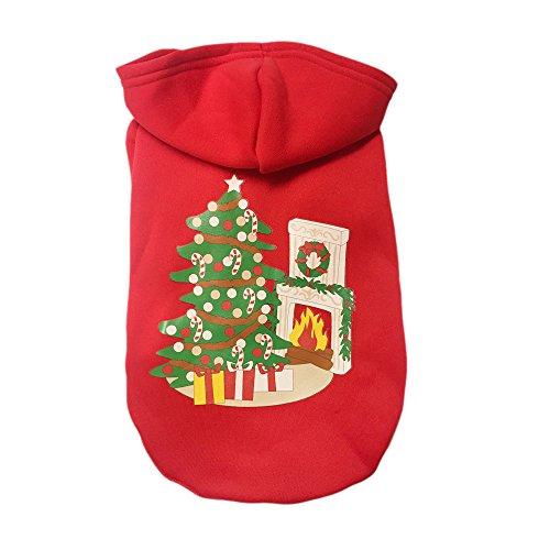 Niedliche Kostüm Kleine Für Hunde - Laile Hunde-Pullover mit Kapuze Weihnachten Fasching Kostüme Bekleidung für kleine Hunde Pet Warm Hoodies Baumwoll Niedlicher Coat Hundepulli Winter Strickpullover Sweater Cardigan