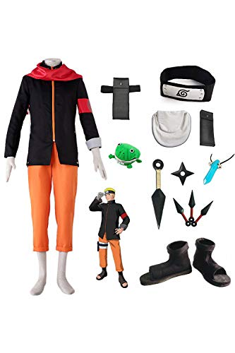 Karnestore Boruto - Naruto The Movie Uzumaki Naruto Outfit Cosplay Kostüm Herren L