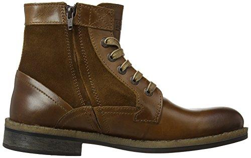 Camel Active Newton Herren Stiefel Braun (Medium Brown Leather/Oil Suede)