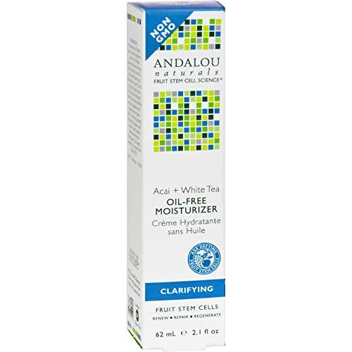 Tea Oil Free Moisturizer (Andalou Naturals Tea Oil-Free Moisturizer Acai plus White - 2.1 fl oz)
