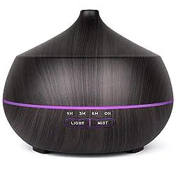 400ml Aroma Diffuser,TENSWALL Luftbefeuchter Ultraschall Duftlampe mit 7 Farben LED für zuhause, Yoga, Büro, SPA, Schlafzimmer