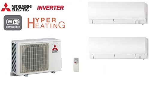 CLIMATICA DISPOSITIVOS MITSUBISHI 2 DE SPLIT INVERTER HYPER HEATING MXZ-2D53VA + 1 X MSZ- FH35VE + 1 X MSZ- DE FH25VE