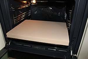 Pizzastein Brotbackstein Flammkuchenplatte aus Speicherschamotte, Für E-Herde