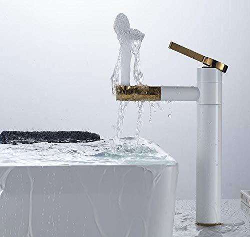 Wasserhahn Küchenarmatur Basin Mixer Tap 720 Degree Rotate Type Basin Faucet White And Silver Chrome Bathroom Faucets Single Hand Mixer Torneira - Hot Plate-matten