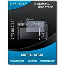 SWIDO X-T100 - Pellicola protettiva per display per Fujifilm X-T100, 2 pezzi, alta durezza, montaggio senza bolle, protezione da olio, polvere, impronte digitali e graffi