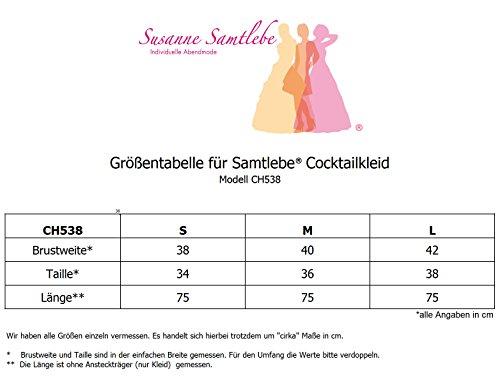 Samtlebe® - Junges trägerloses Chiffon Cocktailkleid im Bustier / Empire Stil - elegant knielang CH538 in Schwarz Gr. S-L (34-38) Schwarz