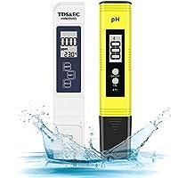 Eletorot Portable Pluma de prueba PH &TDS Detector de calidad del agua del hogar Pen Detector PH Probador Digital con Prueba de Pantalla LED para Piscina, Acuario