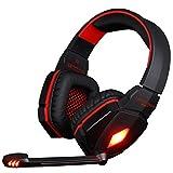 Mecoco Gaming Headset Stereo USB Gaming Kopfhörer mit Mikrofon LED für PC PS4 Laptop Tablet