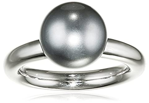 Merii M0382R/90/C8/58 Grey 10.0 mm Synthetic Pearl Sterling Silver 926 Ring Size R