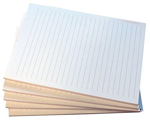 18x Notiz-Block liniert in Grau - Notizen Linie - 50 Blatt, DIN A5, 50 Blatt, Qualitäts-Offset-Papier 80g/m² (22210)