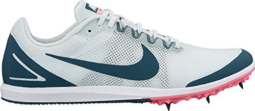 Nike Damen Zoom Rival D 10 Track and Field Shoes, Damen, grau/weiß, 12 M US (Nike Track And Field Damen)