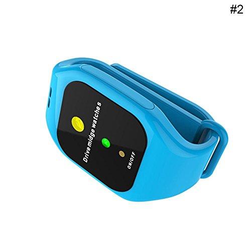 Say Hello Intelligentes LED-elektronisches Ultraschallmoskito-Repeller-Armband Bracelet-Mückenschutz Say Hello (Blau)