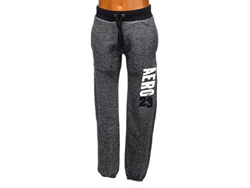 aeropostale-chine-pant-noir-uni-pantalon-de-survetement-gris-anthracite-fonce-taille-xs