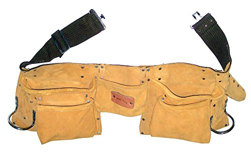 prima-tools-lps11dm-top-grade-suede-leather-double-nail-tool-pouch-with-11-pockets-yellow