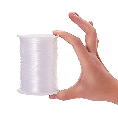 Pandahall Elite 1 Roll Clear Nylon Wire Fishing Line, about 1 mm in diameter, about 180m/roll by PandaHall