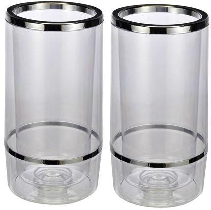 Bambelaa! Weinkühler Sektkühler Flaschenkühler doppelwandig ? (Plastik, 2 Stück)