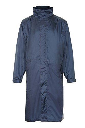 Champion Long manteau de pluie avec capuche Longueur au genou Imperméable coupe-vent et respirant doté de la technologie Aqua-Vent Bleu