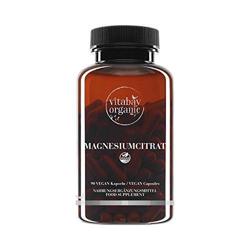 Magnesiumcitrat - 90 vegane Kapseln - rein natürlich und gut verträglich, Reinsubstanz, frei von Hilfs- und Zusatzstoffen, vegan - Natürliche Nierenstein