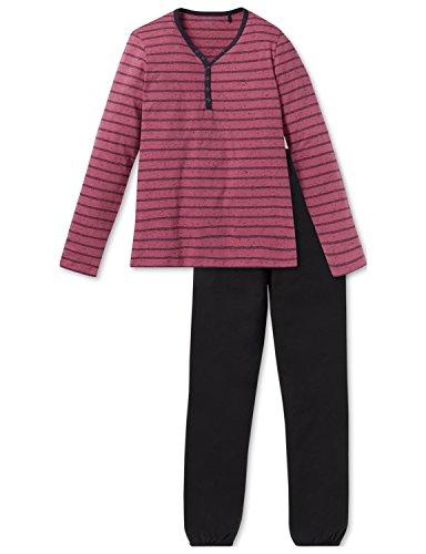 Schiesser Rebel Mädchen Anzug lang Zweiteiliger Schlafanzug, Rot (Malve 525), 152 (Herstellergröße: S)