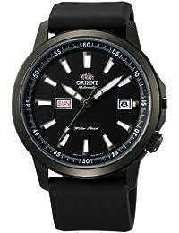 Orient 42mm negro PVD Stingray–día y fecha reloj automático con esfera negra em7K003b