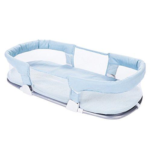 Wickeltisch DELLT@ Baby Portable Krippe Middle Bed Sommer Neugeborenen Schlafenkorb gehen zusammenklappbare Babybett (Farbe : Blauer himmel)