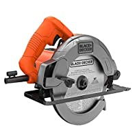 Black+Decker 1400W 184mm Sierra Circular Saw with Bevel Angle Cutting with 18 Tooth Saw Blade, Orange/Black - CS1004-B5, 2 Years Warranty