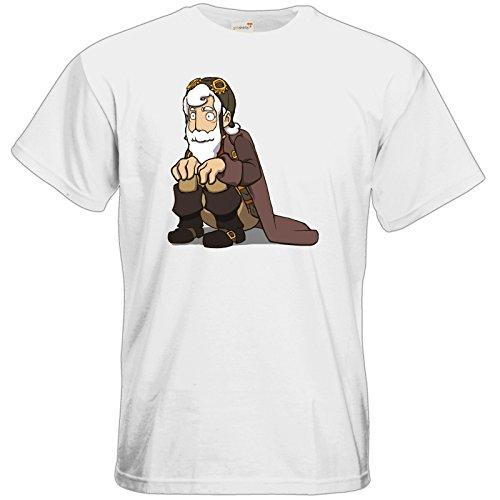 getshirts - Daedalic Official Merchandise - T-Shirt - Deponia Grandpa Rufus White