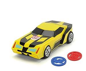 Dickie de Juguete 203114003-Transformers Juguete Auto Mini de con deployer Bumblebee, vehículos