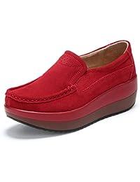 RiekerL7171 - Mocasines Mujer, Color Rojo, Talla 36