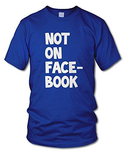 shirtloge - NOT ON FACEBOOK - Kult T-Shirt - in verschiedenen Farben - Größe S - XXL Royal (Weiß)
