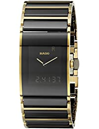 amazon co uk rado watches rado men s integral two tone ceramic band case sapphire crystal quartz black dial watch r20799152