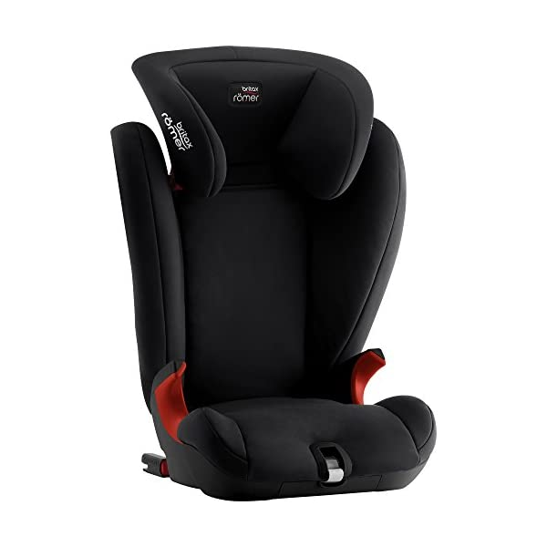Britax Römer KIDFIX SL BLACK SERIES Group 2-3 (15-36kg) Car Seat - Cosmos Black  Simple installation - soft-latch isofit system Misuse limiting design - intuitively positioned seat belt guides Lightweight - easy to transfer between cars 5