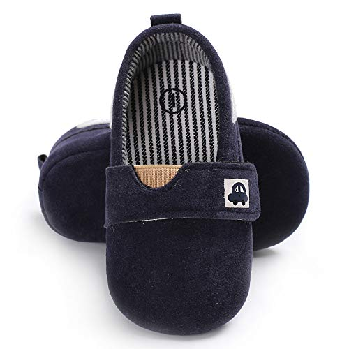 FemmeStopper Baby Boys and Girls Blue Nonslip Casual Shoes, 12-18 Months