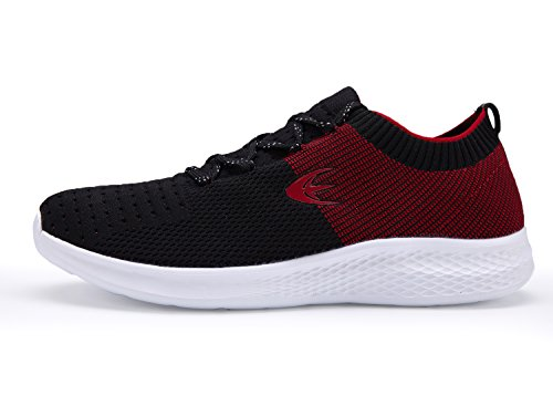 Ezywear Running Trainer Herren Gym Fitness Schuhe (44 EU, Rot)