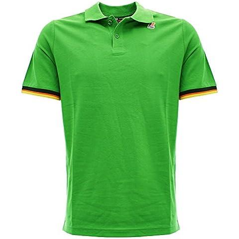 VINCENT cont B21 kelly green Polo da uomo slim fit colore verde acceso Verde acceso (Camicia In Cotone Piqué Sport)
