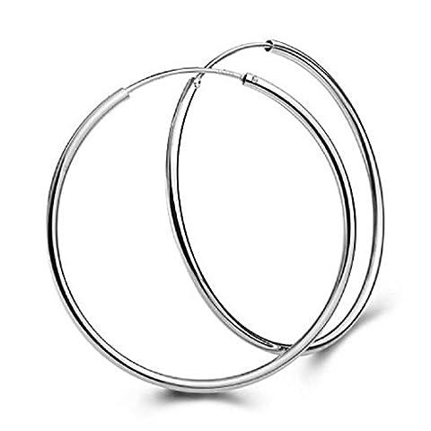 Xmansky 1 Paar Big Smooth Große Ohren Ring Klarer Kreis