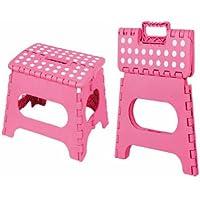 Preisvergleich für Unbekannt Home Basics Tritthocker, Zusammenklappbar [Spielzeug], Pink, 22,9x 27,9x 20,3cm