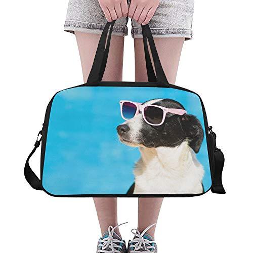 Plosds Sonnenbrille Cool Dog Animal Große Yoga Gym Totes Fitness Handtaschen Reise Seesäcke Schultergurt Schuhbeutel für die Übung Sport Gepäck für Mädchen Männer Frauen Outdoor (Herren-coach Sonnenbrille)