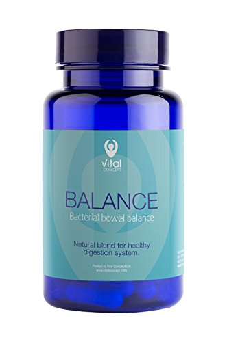 BALANCE - Bakterielle Darm Gleichgewicht, ausgeglichen Bauch. Nahrungsergänzungsmittel für eine bessere Verdauung. Unterstützt die Absorption von Fetten, Proteinen und Mineralstoffen. Reinigung der Därme, Verbessert die Heilungsprozesse der Leber. Mit Probiotik und Präbiotika. 60 Kapseln, 100% vegetarisch Friendly, GVO und glutenfreie Pillen.