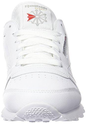 Reebok Classic Leather, Chaussures de Running Entrainement Garçon Blanc (White)