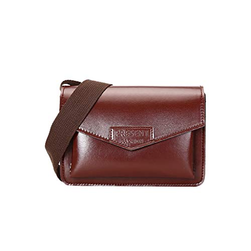 UULIKE--Bag - Bolso al hombro de poliuretano para mujer, color Marrón, talla Talla única