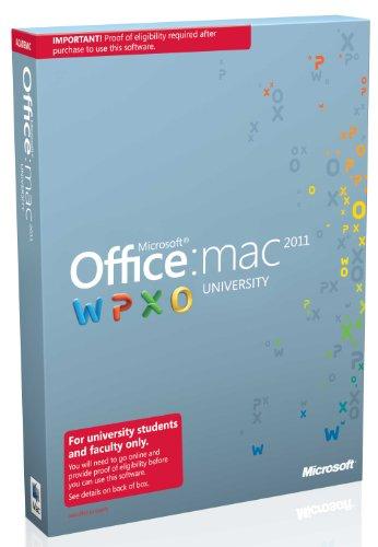 Microsoft Office for Mac University 2011 SP1 EDU (Englisch)